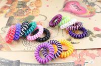 Wholesale Telephone Line Elastic ponytail holder hair tie Headband mixed colours Hair ring hair wear Hair Accessories