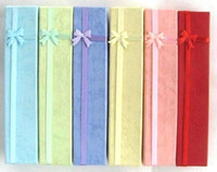 Wholesale New Fashion Multi Color Long Jewellery Box Necklace or Bracelet Gift Boxes x4cm