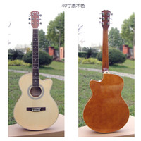 Wholesale Newest Chinese guitar Natural Color Acoustic Guitar IN STOCK
