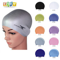 Wholesale Swim Cap Swimming Hat Silicone Silica Gel Multi Colors Outdoor Sports Products EB9201