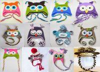 Wholesale Adult Crocheted Hat crochet caps For Adults OWL Crochet Hats Cotton Handmade Monkey Hat