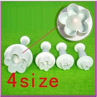 Wholesale Hot Selling DIY Flower Cake Cookies Cutter Plunger Paste Fondant Sugarcraft Decorating Tool