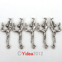 Wholesale 120pcs Fashion Sports Gymnastics Zinc Alloy Charms Pendants Fit Necklace Jewelry Diy