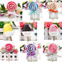 Wholesale 2014 most creative soap Christmas gifts lollipop ice cream soap hotel wedding Soap Favors Creative ice cream soap mix bath