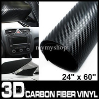 Wholesale 3D Texture carbon fiber Wrap vinyl Sheet Decal Black quot x quot cm x cm