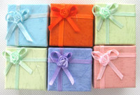 Wholesale New Popular Jewelry Ring Display Earring Gift Box Ribbon Top x4cm