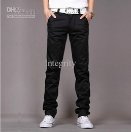 Wholesale Men s Pure cotton three dimensional Long pants Houndstooth trim fashion casual pants