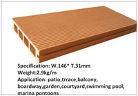 Wholesale recycled and anti slip patio wood plastic composite decking