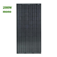 200W 46. 46V Solar Panel Monocrystal Silicon Solar Cell(158*1...