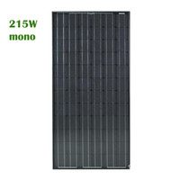 215W 46. 46V Solar Cell Monocrystal Silicon with Black Frame(...