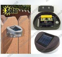 achat en gros de voies d'aménagement paysager-4pcs H72 New 2 LED énergie solaire LED jardin extérieur Pathway mur Paysage Clôture Lamp