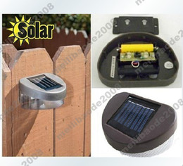 Canada 4pcs H72 Nouveau 2 LED Solar Powered LED Light Outdoor Garden Pathway Wall Landscape Fence Lamp landscaping pathways promotion Offre