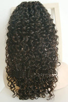 Wholesale 10 inches virgin Peruvian Human Hair Curly Full Lace Wig