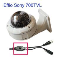 Wholesale Sony Effio TVL mm Varifocal Lens IR Leds Vandalproof Dome Security Night Vision Camera