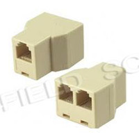 Wholesale 100 Brand New RJ11 RJ Connector Splitter Extender Plug Adapter RJ11 to Telephone Splitter