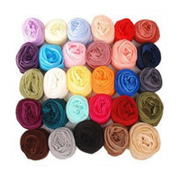 Wholesale Mixed selling Girls Candy Scarves Elegnant Gauze Fabric Long Scarf CM Woman s Wraps