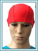 Wholesale Swimming Cap swim Hat Unisex Elastane black pink red Polyester and Spandex Fibre
