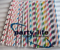Wholesale 1000pcs Mixed Polka Dot Striped Paper Straws Drinking Paper Straws bio degradable Paper Straws