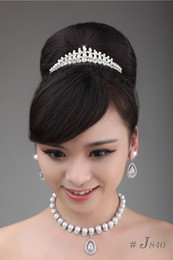 Wholesale Fast Delivery Exquisite Best selling Most Popular Bridal Jewelry Sets J840 Necklace Earrings Tiaras