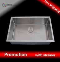 Wholesale 6242 R10 sus304 gauge undermount single R angle Stainless Steel handmade kitchen Sink