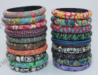 Wholesale Mix Flower Bohemian Polymer Clay Bangles