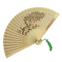 Wholesale High quality Wooden Chinese gift fans Japanese Folding Ladies Handy Fan mixed design