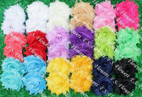 Wholesale quot chic shabby chiffon flower chiffon frayed flowers hair accessories colors