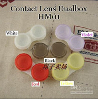 Wholesale 100pcs Contact Lens Case Dual Double Box Lens Soaking Case HM01 Model expecting your attention