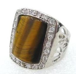 Wholesale cheap Fancy Jewellery jewelry tiger's eye stone men's ring size 8-11 #