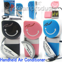 Wholesale Portable USB Mini Hand Held Hand Held Air Conditioner Degree Rotatable Wet Cooling Fan cooler