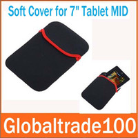 Wholesale Soft Protect Cloth Bag Pouch Cover Case for inch Tablet PC MID Notebook Black Color Free DHL