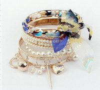 Wholesale Promotio colorful alloy Korea bracelet fashion bangle accessories mixed