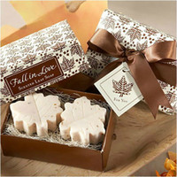 Wholesale Wedding Favors Maple Leaf Scented Soap SPA Themed Bridal Shower Gifts set