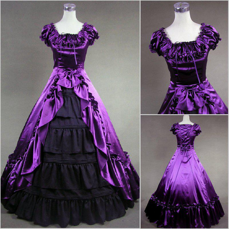Black And Purple Gothic Wedding Dresses Dresses Purple and Black
