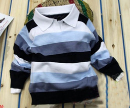 Wholesale baby boy sweater boy pullover children polo t shirt boys children Pullover out sweater D CX