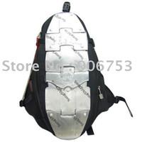 Wholesale Motorcycle backpack ASMK alloy motorcycle bag backpacks metal plate hghj