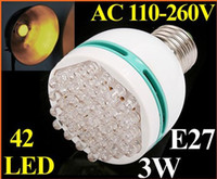 Wholesale W Energy Saving E27 LED lamp LED Bulb Light with blue green yellow light color