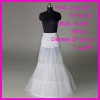 Wholesale Two hoops Tulle Elastic Waist Mermaid Bridal Wedding Underskirt Crinoline Petticoats P121