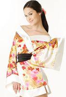 Wholesale Sexy Lace Mini Sleep Dress - Sexy Printed Silk Satin Yukata Japanese Kimono Lingerie sleep costumes Mini Dress 3 Colors