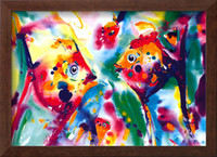 One Panel alfred gockel paintings - Abstract oil painting Home Deco Angel Fish by Alfred Gockel High quality handmade