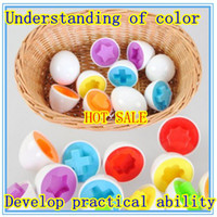 Wholesale Pairs Puzzle Eggs Match Shapes Baby Kid Match Wise Smart Learning Kitchen Toy
