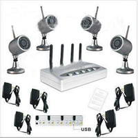 Wholesale Four Channel Standalone Network DVR GHz Wireless Home Surveillance Kit egomall H714