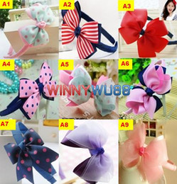 Wholesale Colorful Baby Girl s Headband Hair Bows Assorted Design Baby Girl s Hair Accessory Hair Band Hairbow