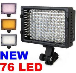 Chaussures CN- 76 LED Caméra Vidéo Caméscope Hot lampe LED feux de vidéo huit pour la configuration des feux à partir de conduit vidéo d'éclairage fournisseurs