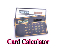 Wholesale Solar Card Calculator mini Calculator Solar powered Counter Thin as