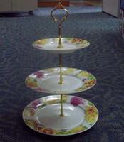cake plates - Crown Cake Plate Stand Handle Fittings Tier VERY HEAVY and STRONG mm long thread