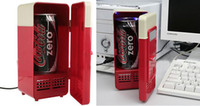 Wholesale New Fashion Portable USB Mini Fridge refrigerator new To use Can Cooler amp Warmer Drink Beer Juice