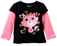 Wholesale girls jumpers tshirts children tees tshirts kids sweatshirts jersey blouses baby tops outfits LMQ82