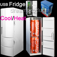Wholesale Portable PC USB Mini Fridge refrigerator Drink Beer Juice Beverage Can Cooler amp Warmer