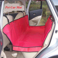Wholesale Red Waterproof Oxford Seat Pet Hammock Car Seat Cover Mat Dog Blanket x140cm